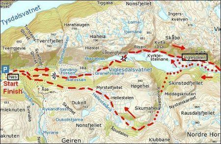 Viglesdalen-kaartje
