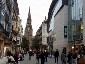 Busy shoppig street