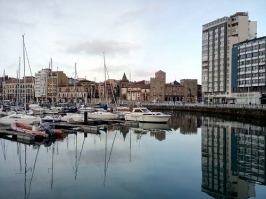 Small harbour of Gijon