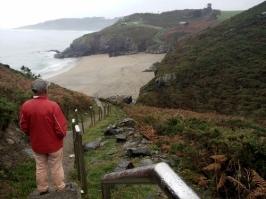 Steep way to tbe beach