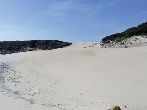 The 30-meter high dunes