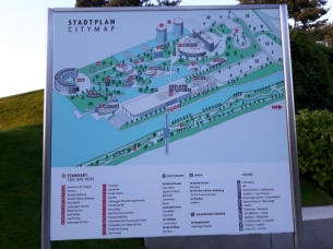 The map of the Autostadt